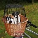 Trixie Cesta mimbre para bicicleta, con asa, 54x32x34 cm