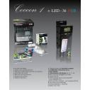 Acuario/Gambario Cocoon 1 con LED 36 RGB