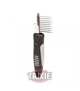 Trixie Peine cortanudos, mango goma antidesl. 18 cm