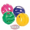 Trixie 4 Pelotas sonajero, plástico, ø 4cm, multicolor