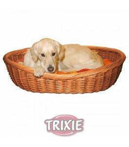 Trixie Cuna para perro de mimbre CLARO, 100 cm