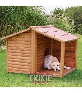 Trixie Caseta madera Natura con porche, 130×100×105 cm