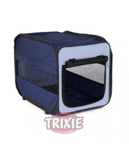 Trixie Caseta desmontable Twister, talla L azul/beig para perro