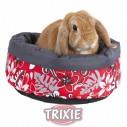 Trixie Flower Cama acolchada para roedores, ø 35 cm, Rojo/Gris